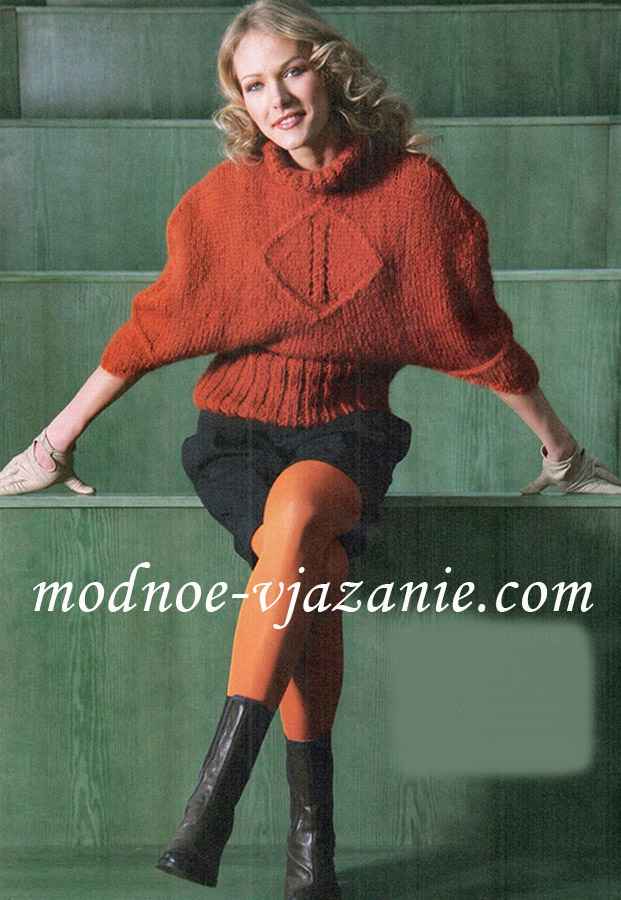 Оригинальный свитер-пончо