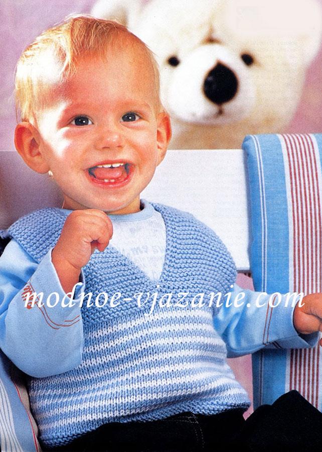 Жилетки, безрукавки для детей - Вязание спицами - сообщество 85