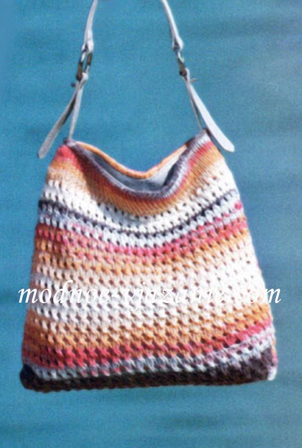 Меланжевая пляжная сумка