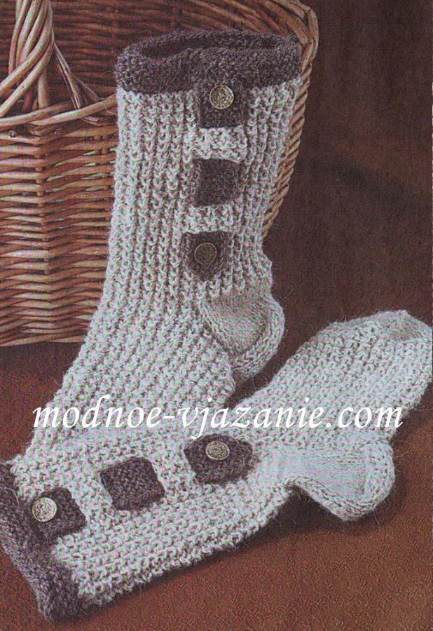 Носки с жемчужным узором