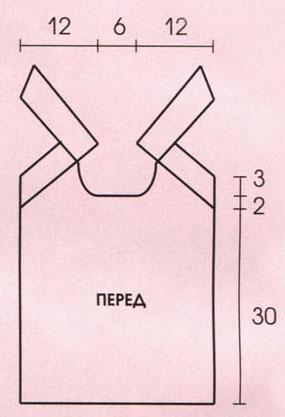 Вязание спицами. Выкройка летнего женского топа на лямках с завязкой. Размеры: 38