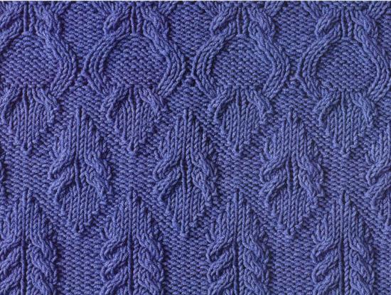 Схемы вязания узоров с косами.