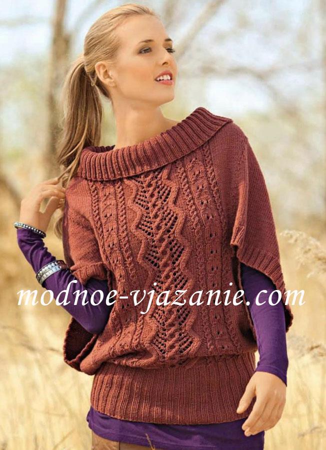 Вязаные пуловеры для женщин спицами с описанием. - Вязание