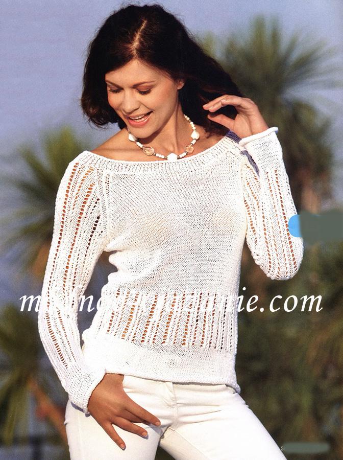 вязание спицами ажурные джемпера для женщин